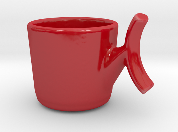 Espresso Coffee Cup Mug in Gloss Red Porcelain: Small