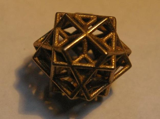 tri cube escher necklace