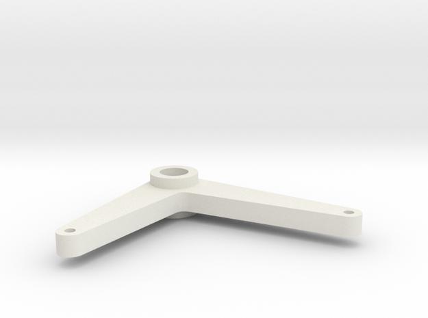 Gauge 3 L&Y D21 Brake Bell Crank in White Natural Versatile Plastic