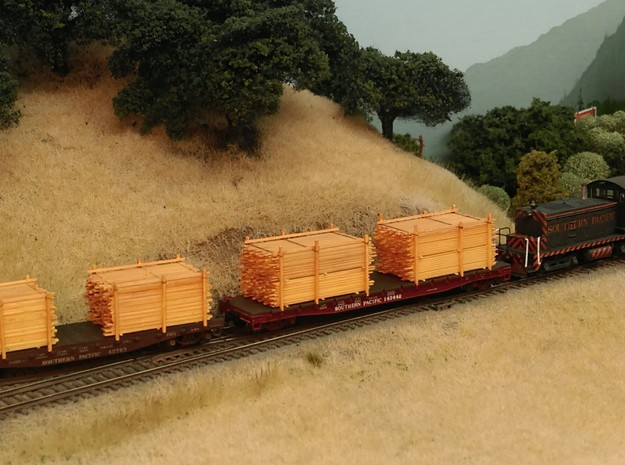 Lumber Loads N Scale: Outfits 14 Flats & Gons in Smooth Fine Detail Plastic