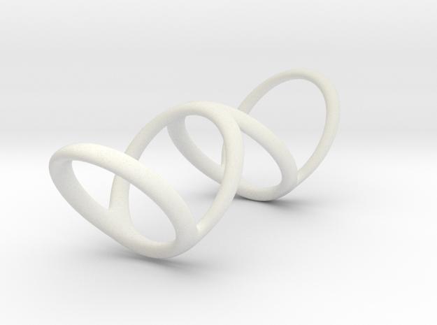 Ring for Bob L1 1 1-4 L2 1 3-4 D1 7 D2 9 1-2 D3 10 in White Natural Versatile Plastic