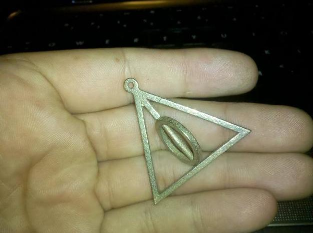 Deathly Hallows Necklace replica from Harry Potter 3d printed assembled