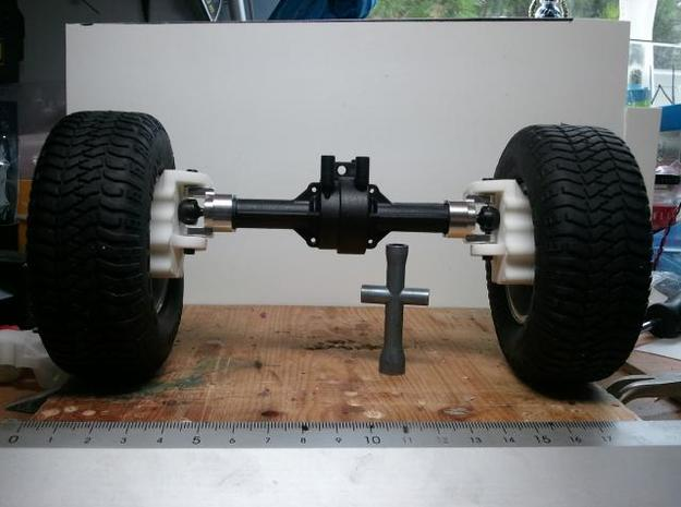 4 Portalachsen / Portal Axles v1.0 for Losi MRC 3d printed Portal axles mounted on LOSI MRC axle