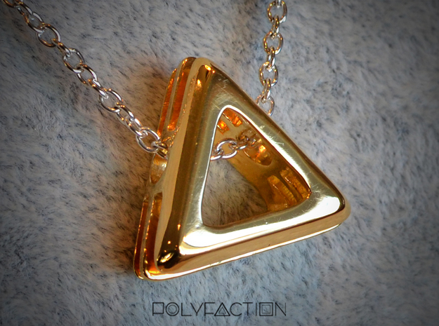 Embrace ::: Triangle Pendant ::: v.01 in 14k Gold Plated Brass