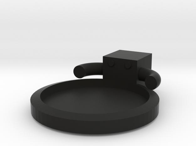 Square Man Coaster in Black Natural Versatile Plastic