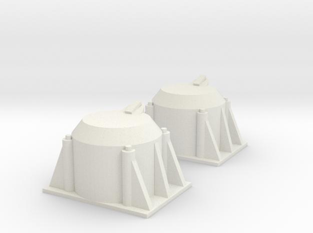 Axle Box Set 2 1/25 Scale in White Natural Versatile Plastic
