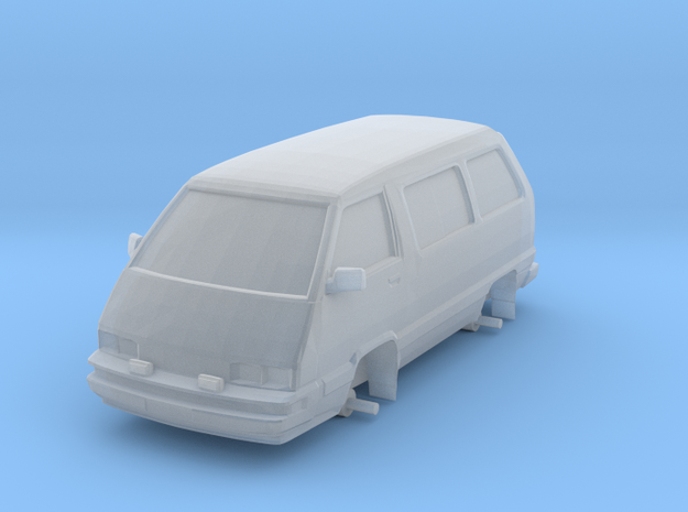 "1/87 Scale 4x4 Mini Van ""TOY"" in Smooth Fine Detail Plastic"