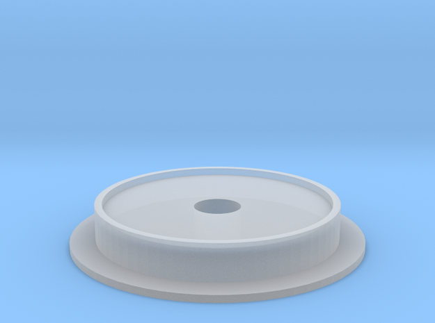 Single Wheel v.2 1/25 Scale in Smooth Fine Detail Plastic