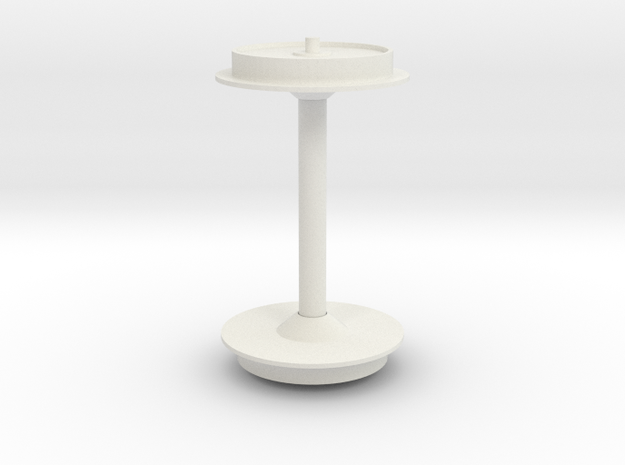 Wheel 1/25 scale in White Natural Versatile Plastic
