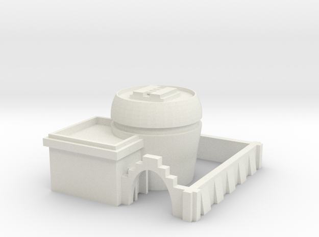 Defensive Lodging 2 in White Natural Versatile Plastic