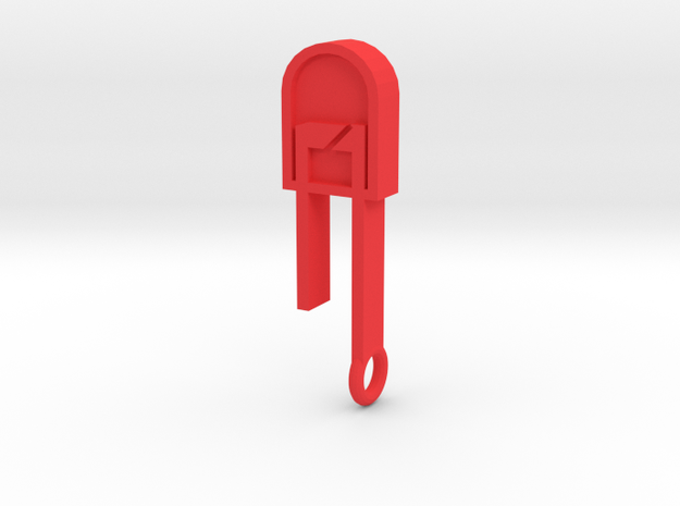 LED Pendant  in Red Processed Versatile Plastic