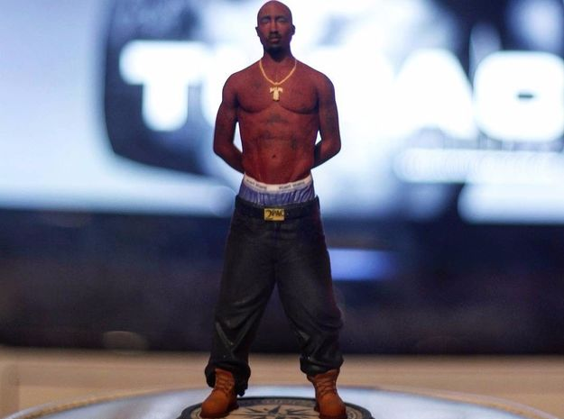 2Pac Tupac Shakur Realistic Miniature in Coated Full Color Sandstone