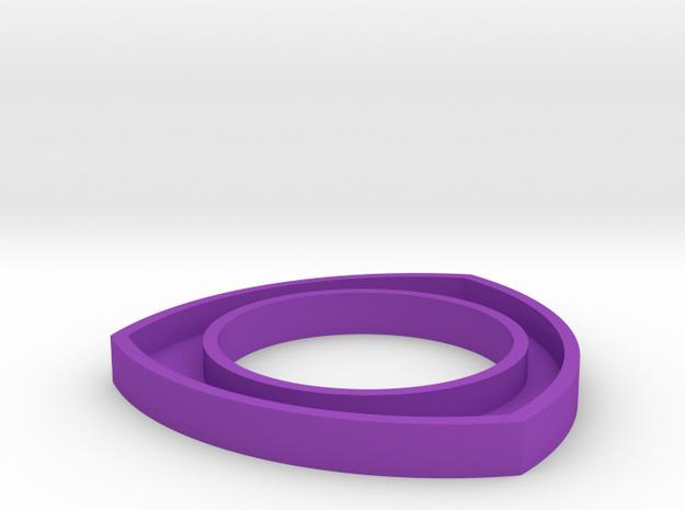 171124 Pup Triangle Bangle Small in Purple Processed Versatile Plastic