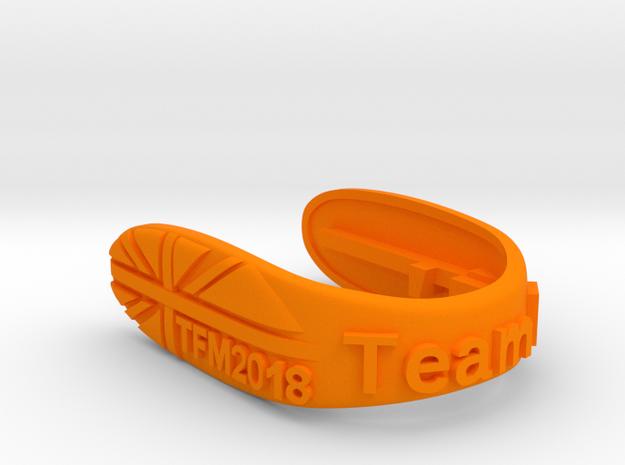 UNION TFM2018 F-TEAM KEY FOB  in Orange Processed Versatile Plastic