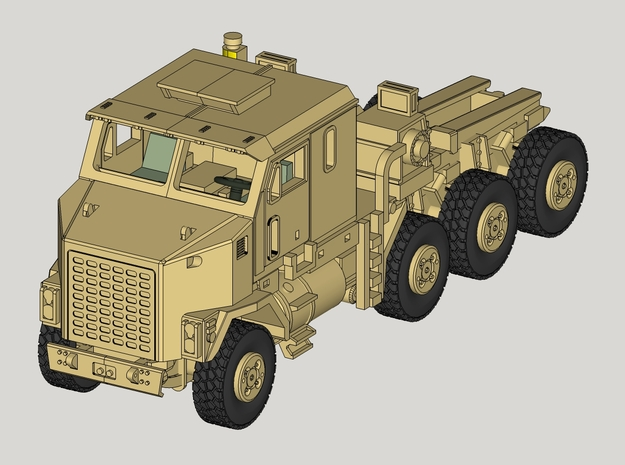 1/160  M1070 Truck Tractor+M1000  Transporter in Frosted Ultra Detail