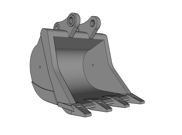 HO - Bucket Standard for 15-20t excavators in Smooth Fine Detail Plastic