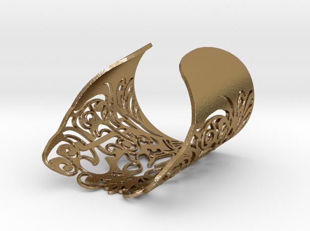 Complex Bracelet Medium in Polished Gold Steel