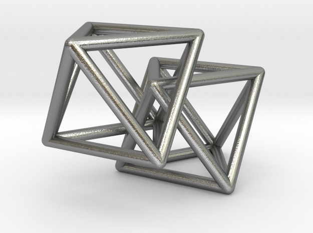 Interlocking Octahedron in Natural Silver (Interlocking Parts)