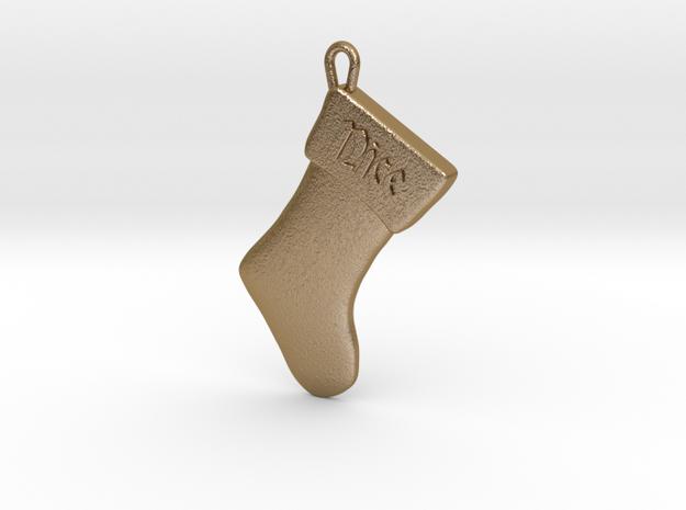 """Nice"" Christmas Stocking Pendant"