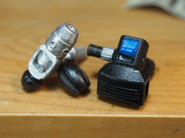 1/6 Scale Scuba Diving Regulators and Tank Valves 3d printed painted with hobby paints