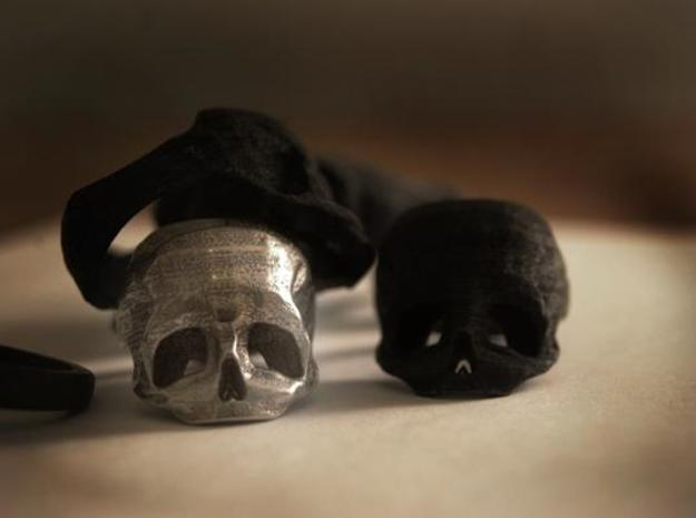 Skull Ring US 6 3d printed Description