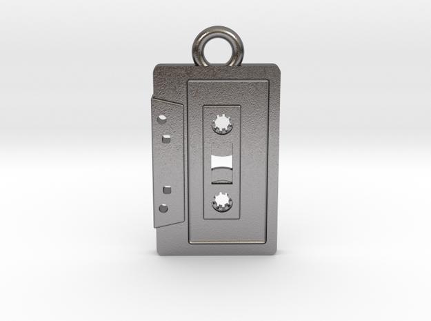 Cassette Tape Pendant 2 in Polished Nickel Steel