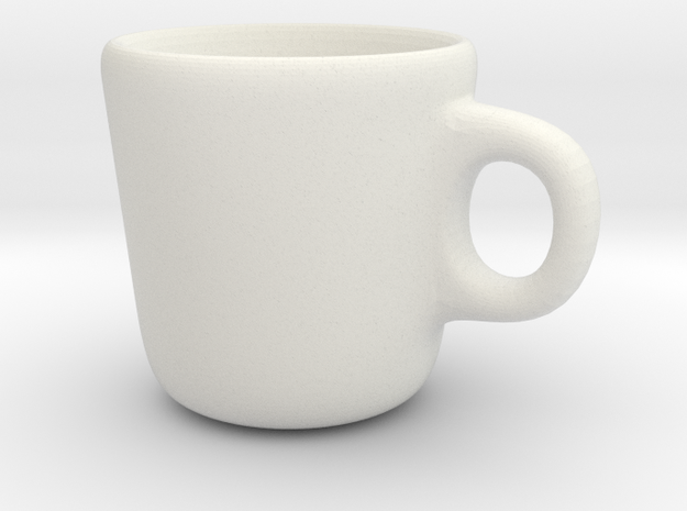 Simple Mug in White Natural Versatile Plastic