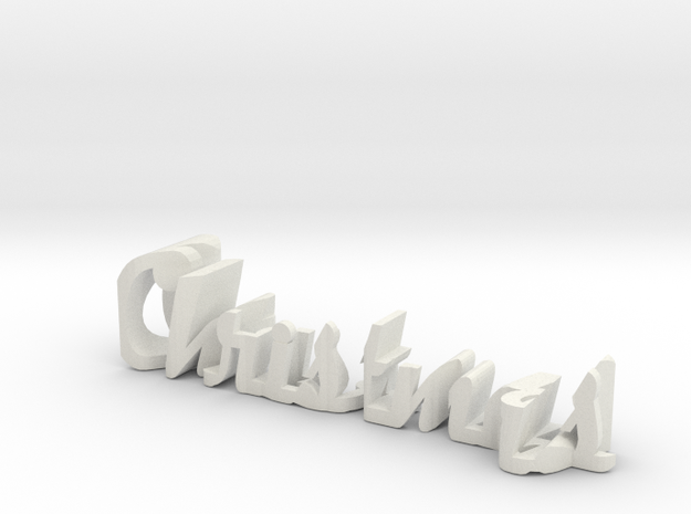 merry christmas in White Natural Versatile Plastic: Small