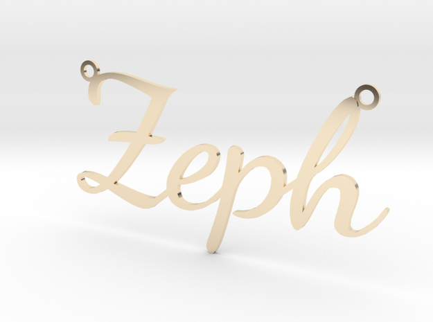 Zeph necklace in 14k Gold Plated Brass