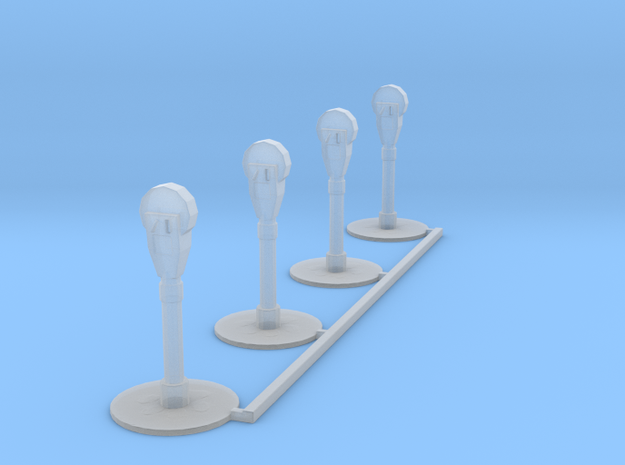 Parking Meters in Smooth Fine Detail Plastic: 1:64 - S
