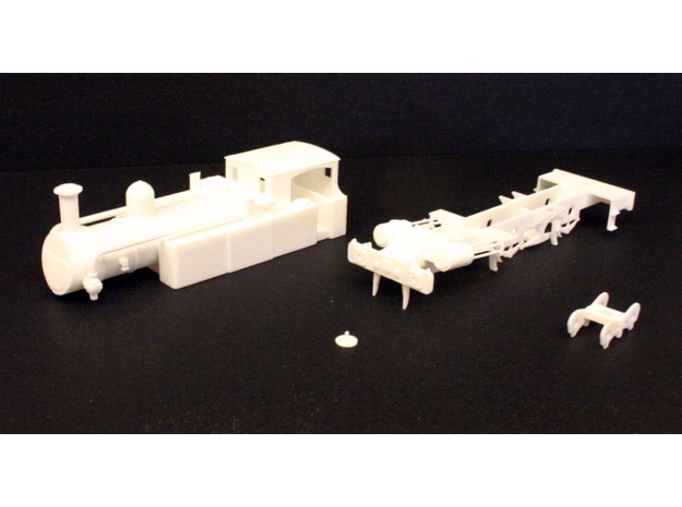 Metropolitan Railway A Class 3d printed The parts laid out before assembly