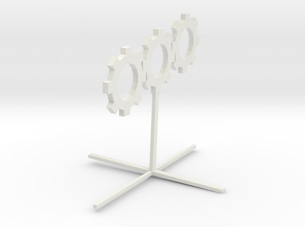 Sprocket_Sculpture in White Natural Versatile Plastic