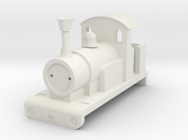 0-4-0T OO Percy Shell in White Natural Versatile Plastic