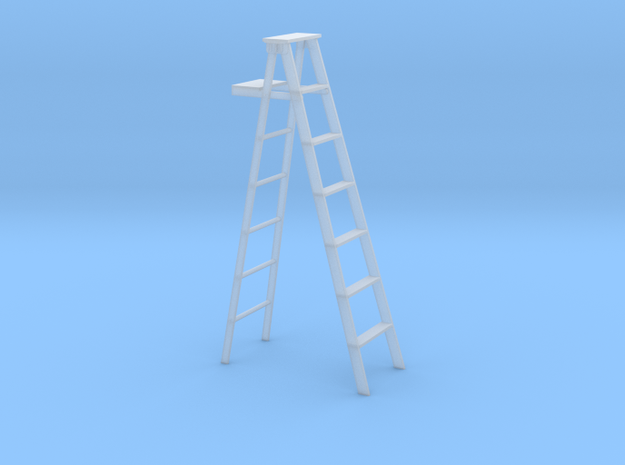 1:48 O scale wood step ladder in Smoothest Fine Detail Plastic