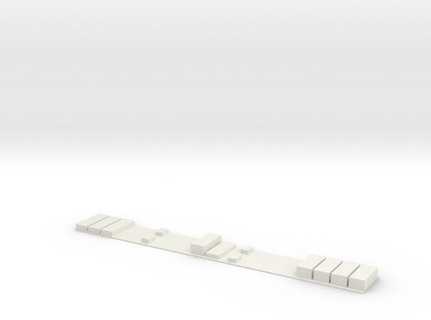 Flirt Dachaufbau TK Scale 0 in White Natural Versatile Plastic