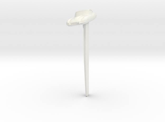 Bookmark Jaguar E Type in White Natural Versatile Plastic