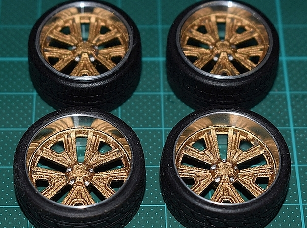 1/25 Rim Inserts Terracuda Style in Smoothest Fine Detail Plastic
