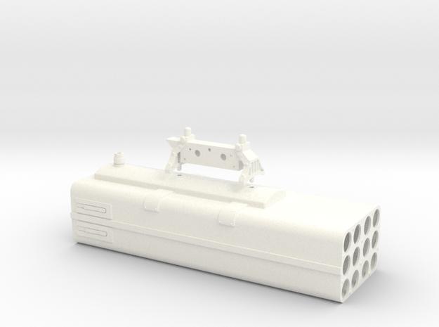 1.8 POD LANCE ROQUETTES in White Processed Versatile Plastic