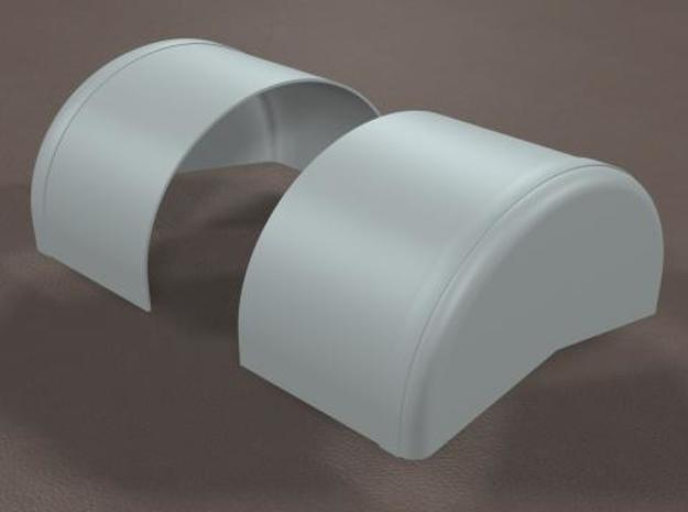 1/16 scale 40 inch Wheel Tubs in White Strong & Flexible