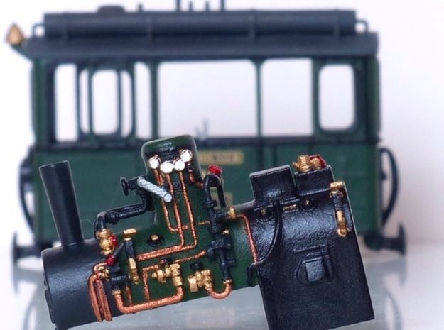 Boiler Henschel steam tram or train 1:87 in Smooth Fine Detail Plastic