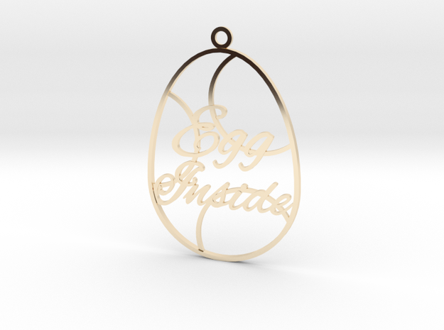 Egg Inside (thin version) in 14k Gold Plated Brass
