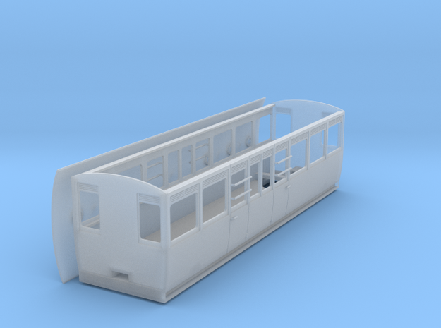 RAR composite coach 2 doors/side in Smooth Fine Detail Plastic: 1:43.5