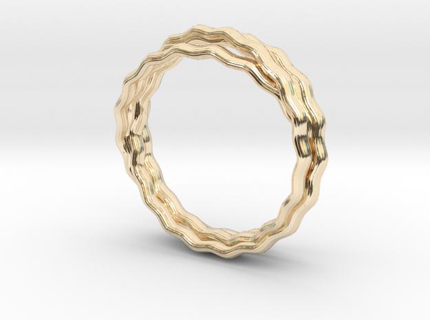 Plain Vine Ring in 14k Gold Plated Brass