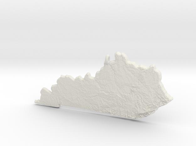 Kentucky Christmas Ornament in White Natural Versatile Plastic
