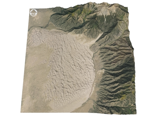 """Great Sand Dunes National Park Map: 6""""x6"""" in Full Color Sandstone"""