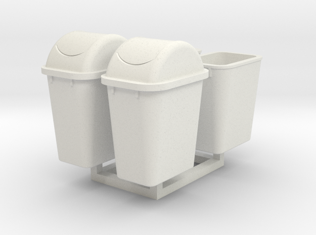 1/35 Trash Can #4 MSP35-064 in White Natural Versatile Plastic