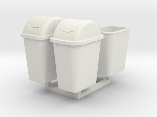 1/35 Trash Can #4 MSP35-064 in White Natural Versatile Plastic