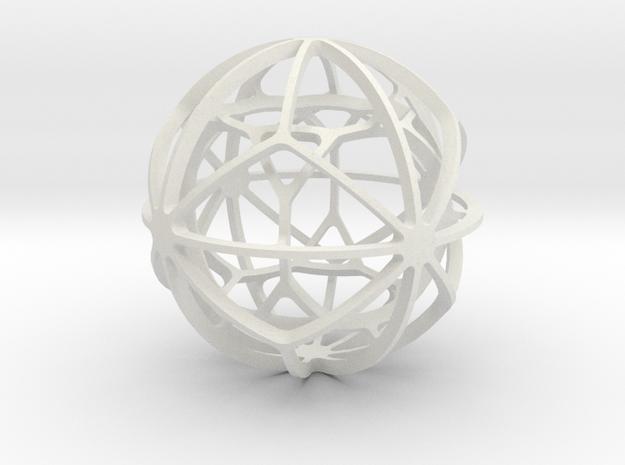 DUAL PAIR No. 3 in White Natural Versatile Plastic