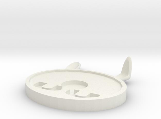 Coaster 2 in White Strong & Flexible: Medium