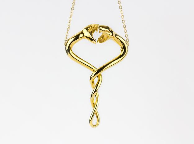 Entangled in 18k Gold Plated Brass